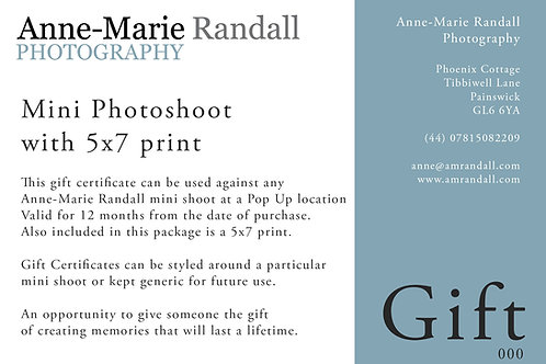 Mini photo shoot Gift Certificate