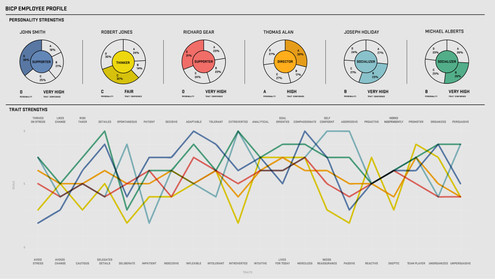 Tableau: HR Personality Assessment