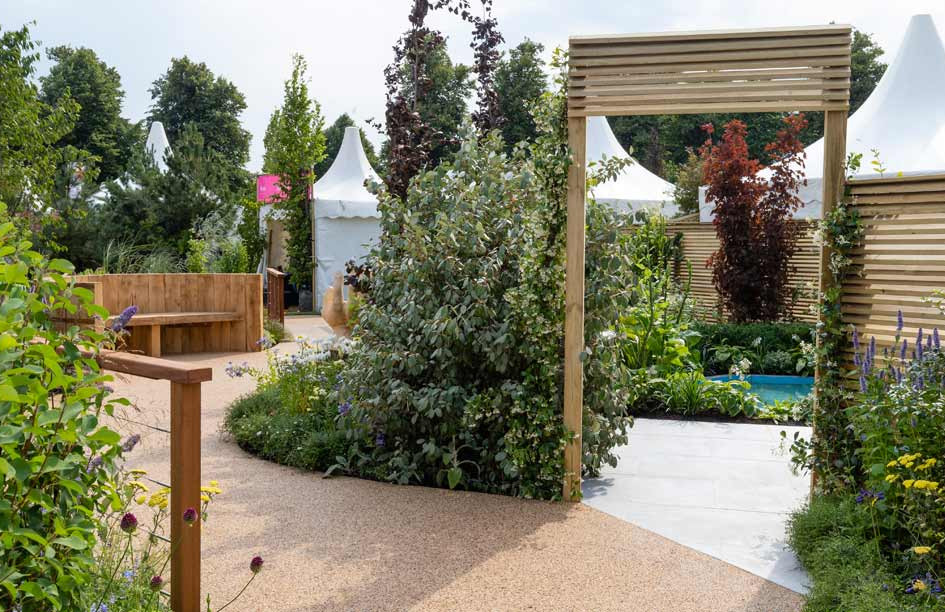 The Limbcare Garden at RHS Hampton Court Palace Flower Show 2018