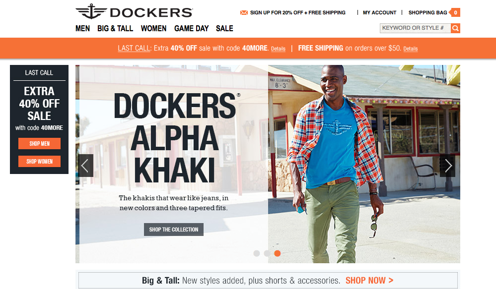 Karamo Brown 2015 International Dockers Ad