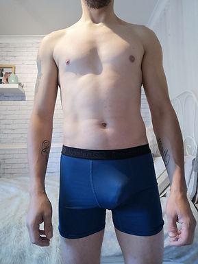 Blue boxers tight fit, worn - Scott