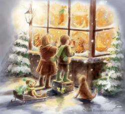'Christmas Kids' - greeting card