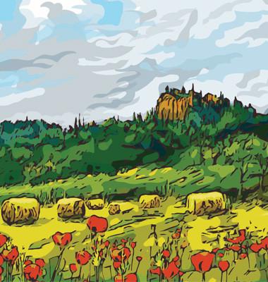 Roussillon vector landscape