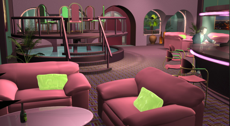 'Cafe' - interior 3D walk-through