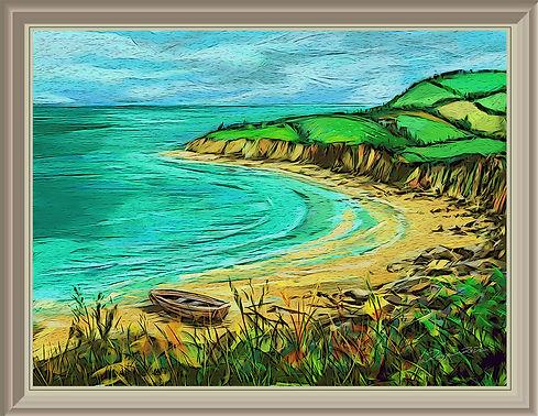 iPad art of a coastal landscape