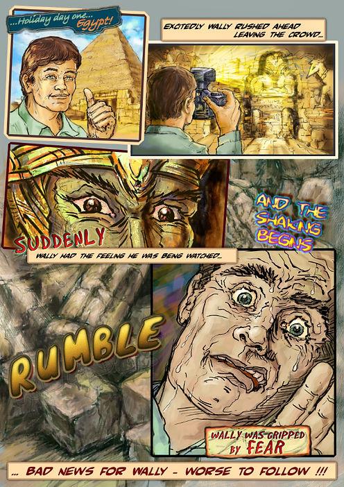 Comic page rough