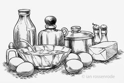 food line art / illustration