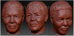 Nelson Mandela - 3D model