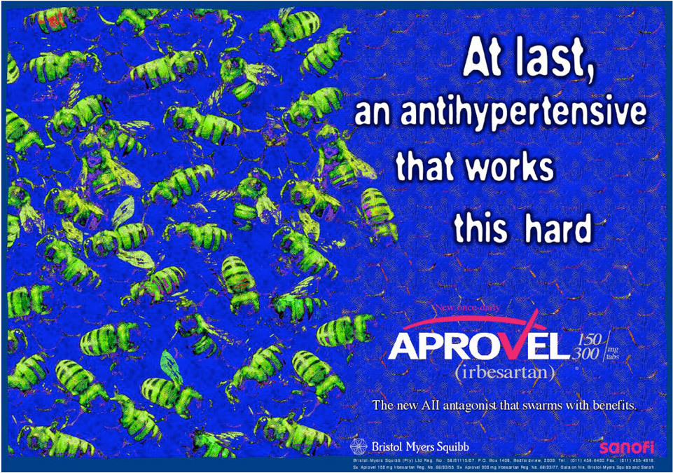 Aprovel medical advert