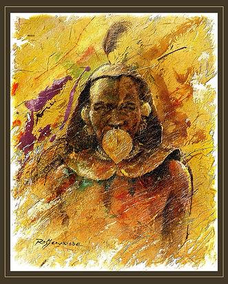 Turkana African Tribal warrior