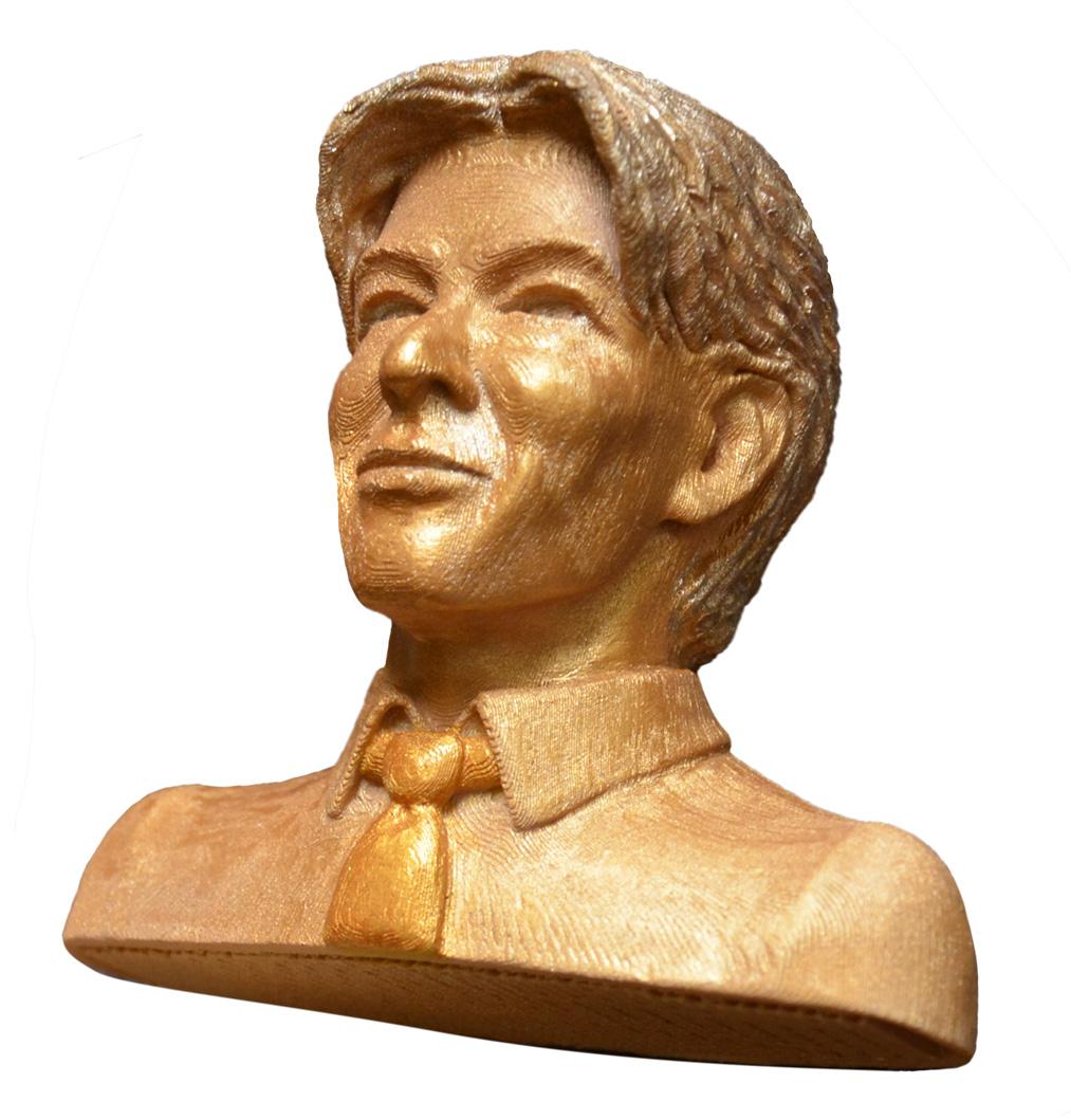 Bowie - test 3D print - wood PLA