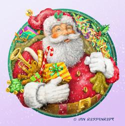 Father Christmas card illustration