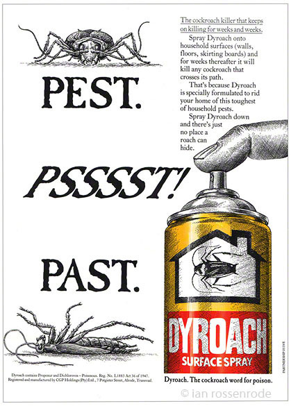 Dyroach (and Dyant) magasine adverts