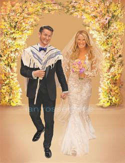 Wedding commissioned illustration