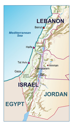 Israel Map info graphic