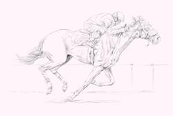 horse racing sketch