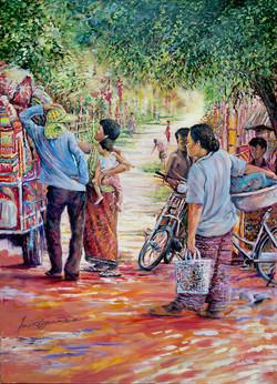 Cambodia street trading