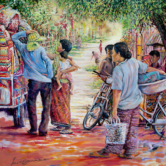 Cambodian street trading