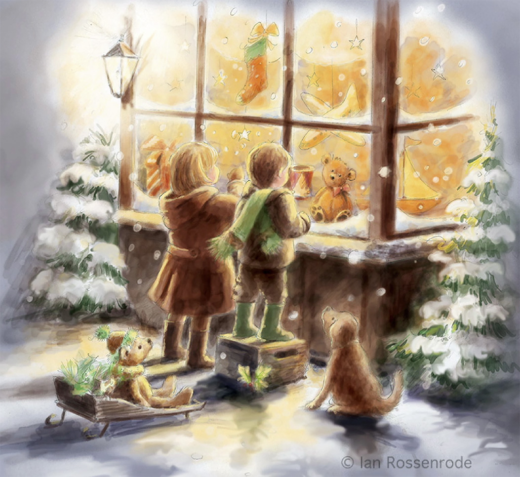 At the Christmas window