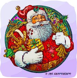 Father Christmas vector