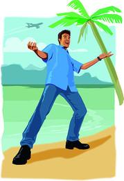 Beach boy ad illustration