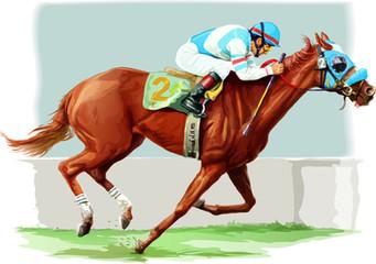 horse racing vector art
