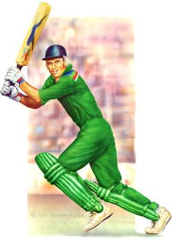 Cricketer illustration