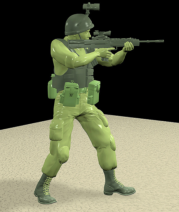Plastic 3D British Soldier