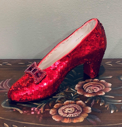 Metallic Red Ruby Red Slippers by Randy
