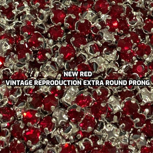 Rhinestone Rose Montees - 12ss/3mm - New Red - Vintage Reproduction