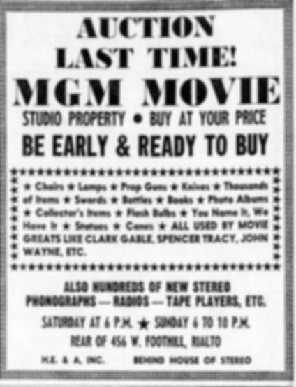 MGM Studio Sale