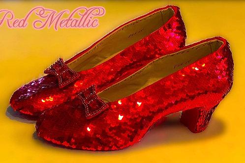 Sequins - Metallic Red - 5mm - Hank of 10,000