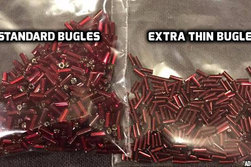 Custom Made Extra Thin Bugle Beads - Size 2