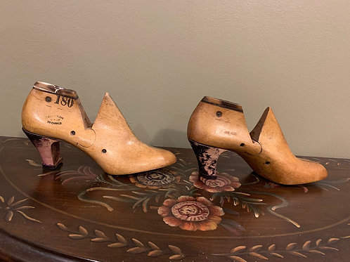 1936 Wooden Shoe Lasts for Ruby Red Slippers - Size 6 A