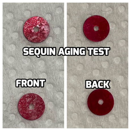 Aged Sequin Test