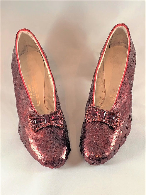 Replica Ruby Slippers - Aged Burgundy - 3 Month Production Time
