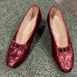 Aged Burgundy Ruby Slippers