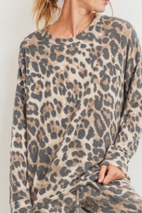 Leopard Cozy Brushed Sweatshirt