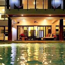 Night Time View From Pool