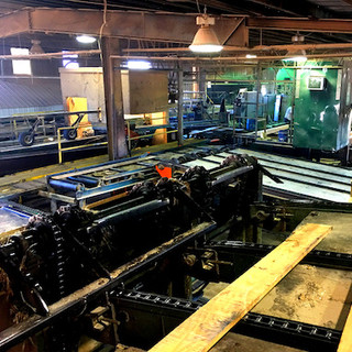 An average of 60,000 BF of hardwood lumber is processed each day at Moss Sawmills.