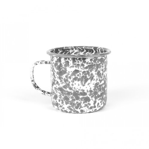 Grey splatter enamel mug