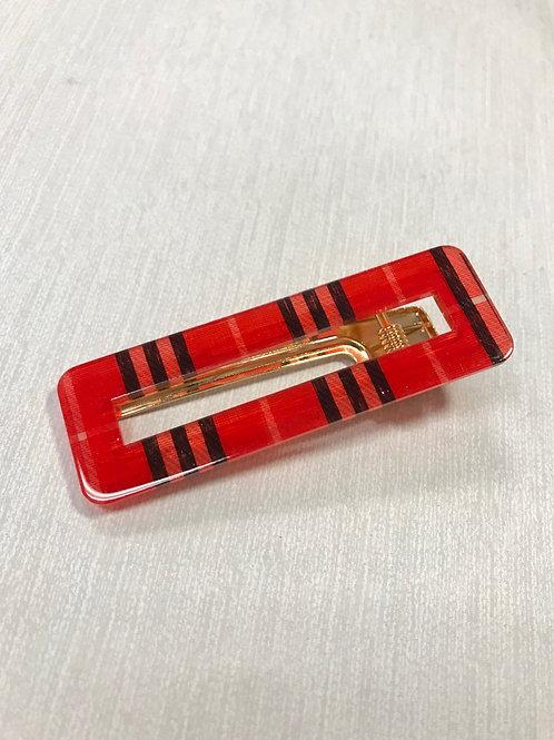 Red Plaid Clip