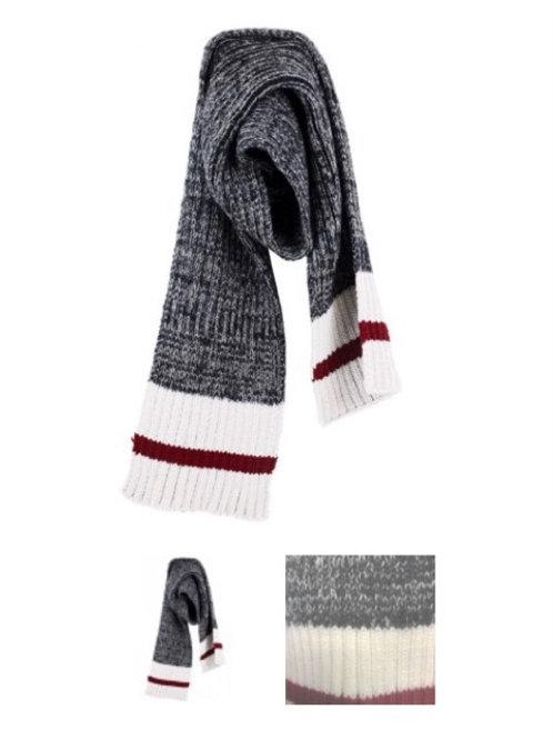 Dark grey work scarf
