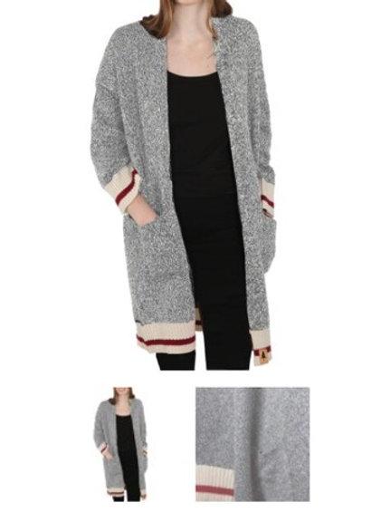 Light grey cabin cardigan