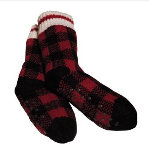 Plaid cozy cabin socks
