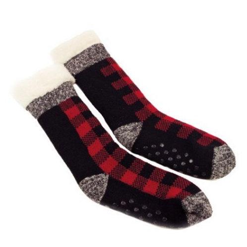 Plaid Cabin Sherpa Socks