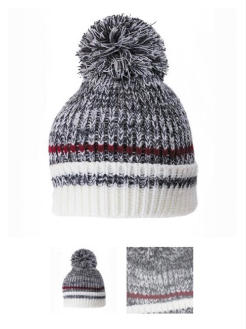 Dark grey knitted work toque