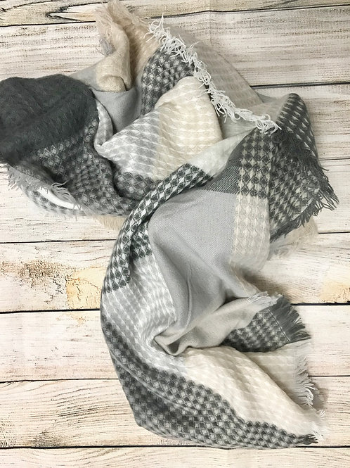 Grey Plaid scarf