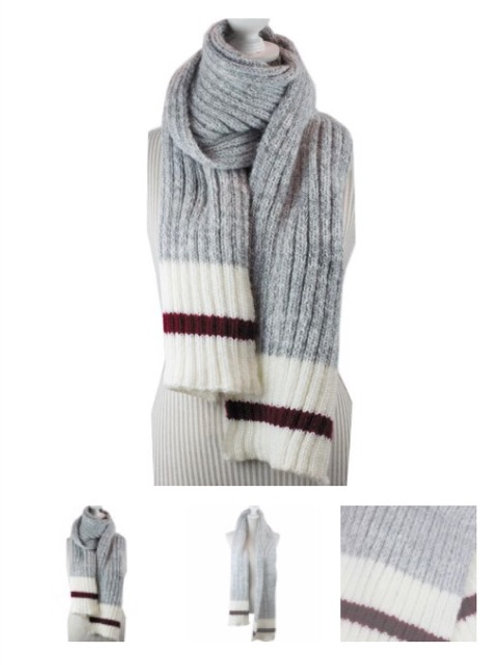 Light grey thick work Scarf