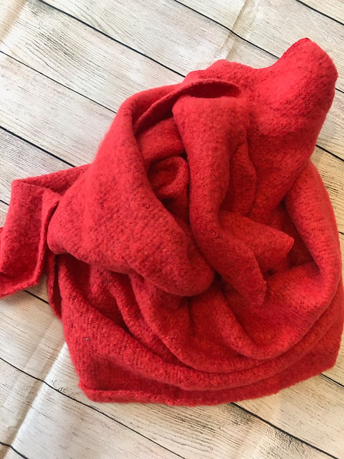 Red Soft Blanket Scarf